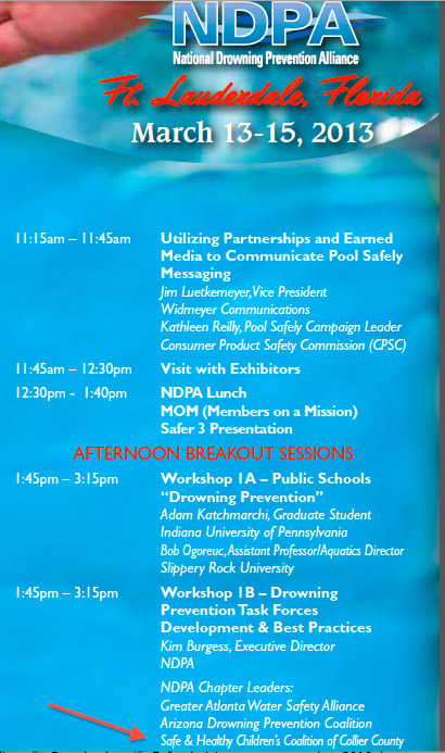 The 2013 NDPA Annual Drowning Prevention Symposium | March 13 – March 15, 2013