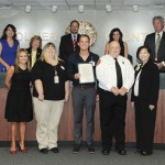 Members of the Collier County Drowning Prevention Task Force receiving County Proclamation